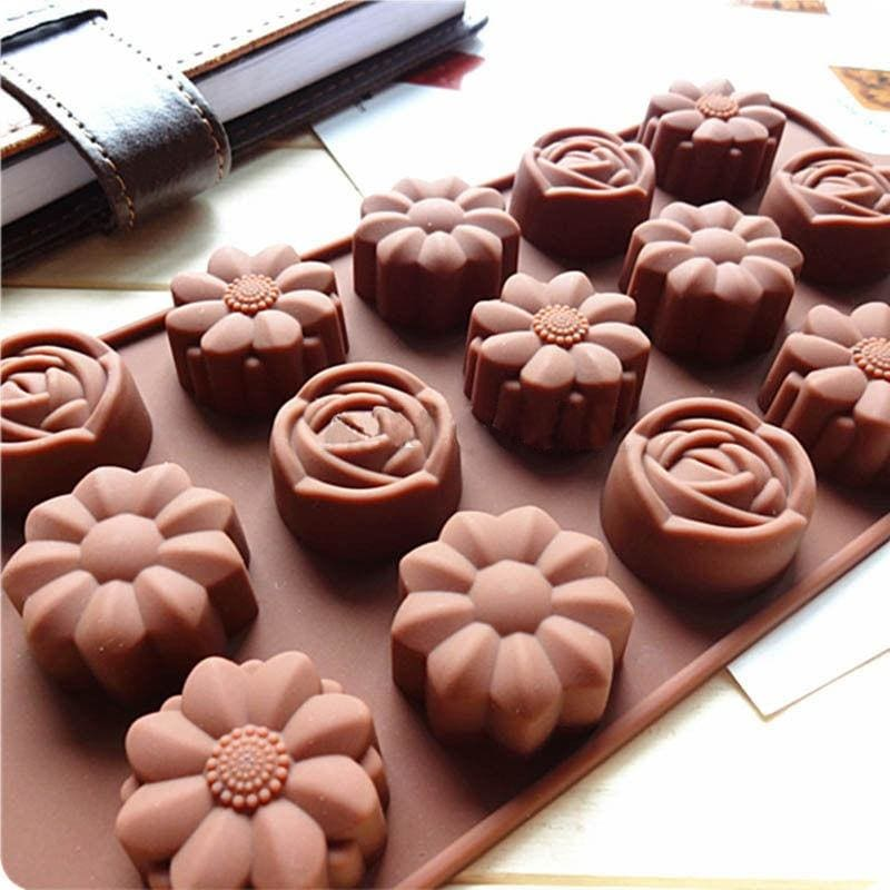 Rose Flower DIY 3D Fondant Cake Chocolate Soap Molds Cutter Silicone Tools Mould