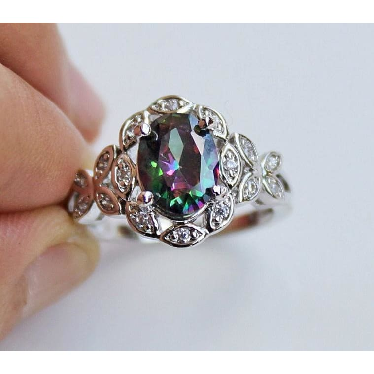 Fashion Jewelry Amethyst /& Pink White Topaz Yellow Gold Filled Ring Size 6 7 8 9