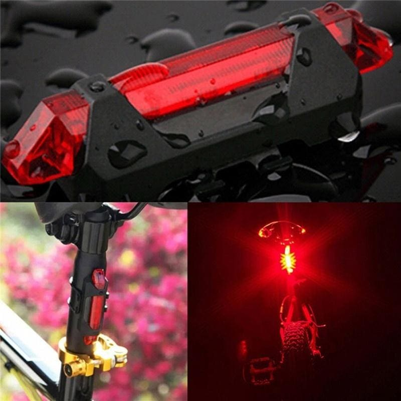 1PC Rainproof Super Bright LED USB Rechargeable Warning Bike Bicycle Taillight