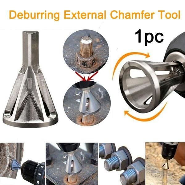Hex Triangle Shank Remove Burr Drill Bit Deburring External Chamfer Tool