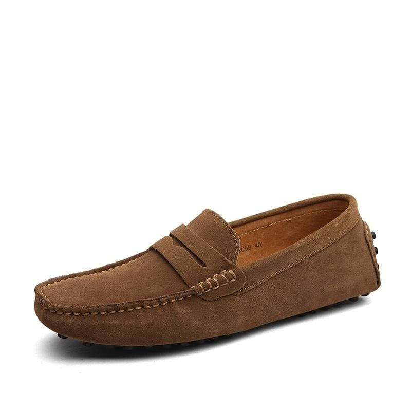 New Men/'s Suede Driving Loafers Moccasins Peas Slip On Comfy Leather Shoes Flat