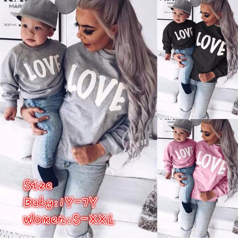 Mom /&Me Family Matching Sweater Girls Womens Knitting Sweaters Outfits Clothes