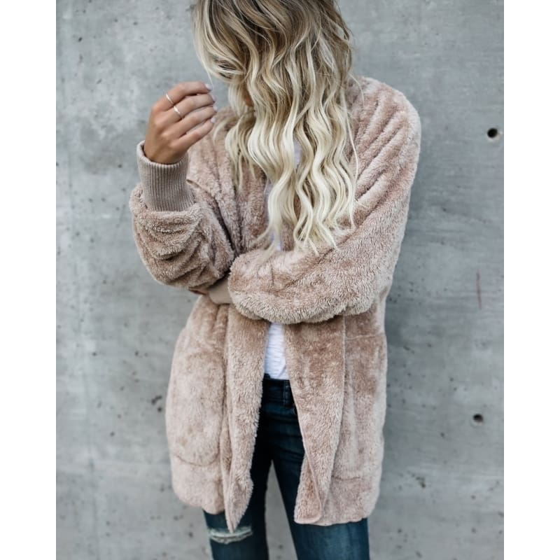 2017 New Autumn and Winter Warm Women Fashion Jacket Coat Oversized Windbreaker Sexy Long Sleeve Casual Knitted Sweater Cardigan Fall Ladies