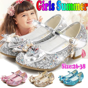 Randolly Child Shoes,Fashion Girls Shallow Mouth Princess Small Shoes Girls Low-Heeled Shoes
