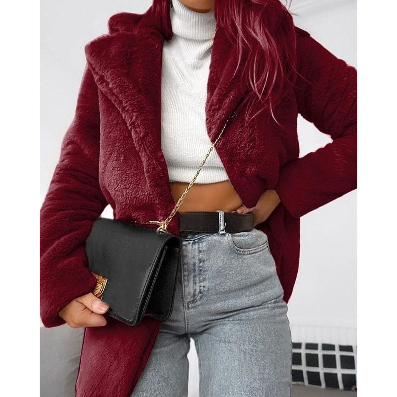 2018 New Winter Womens Environmentally Friendly Faux Fur Warm Soft Skin-friendly Fashion Long Coat