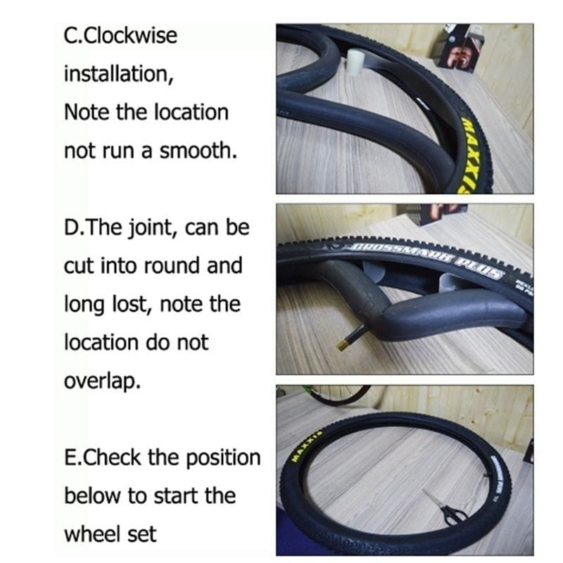 2 Roll Puncture-proof MTB Mountain Bike Bicycle Tire Lining Inner Protect USA