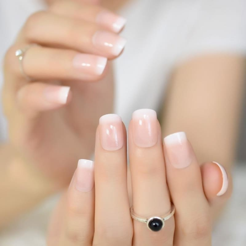 Light Pink Nails Short Coffin Nail And Manicure Trends