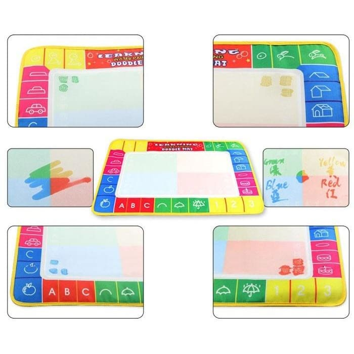 Water Drawing Painting Writing Mat Board Magic Pen Doodle Kids Toy Gift HOT S