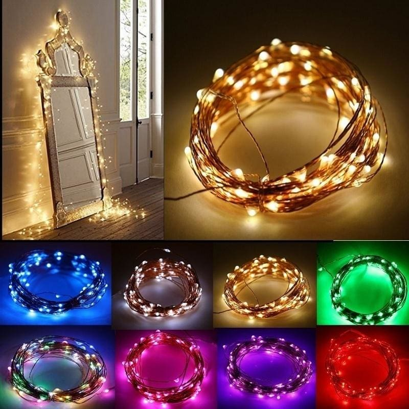 20LED Fairy String Lights Multi-Color Copper Wire Party Wedding Home Decor Light
