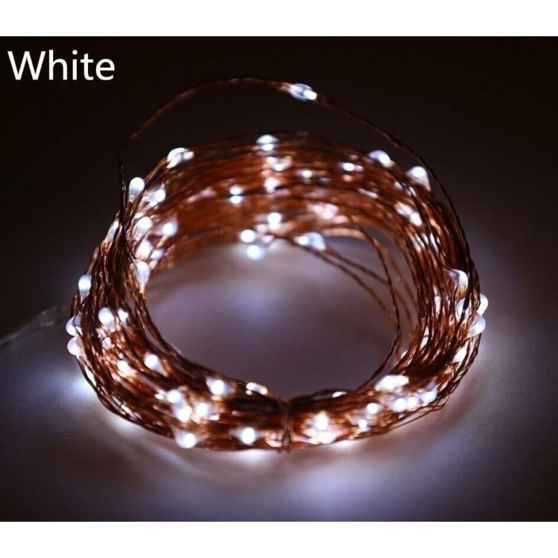 20 LED Hot Copper Wire Lights LED Battery String Powered Fairy Xmas Party Decor