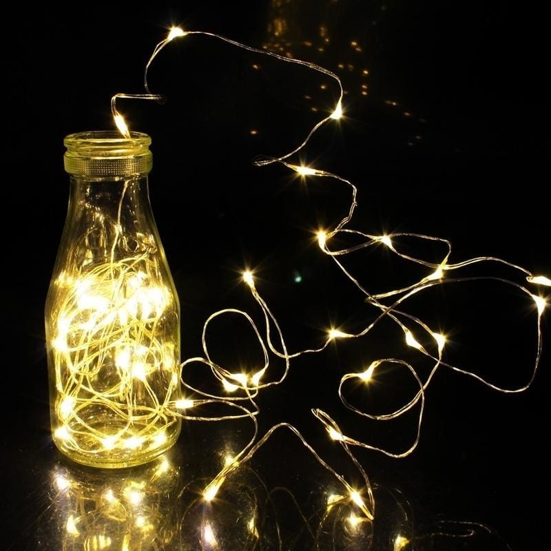 2M 3M 4M 5M 10M LED String Starry Light Copper Wire Fairy Lights Battery Powered