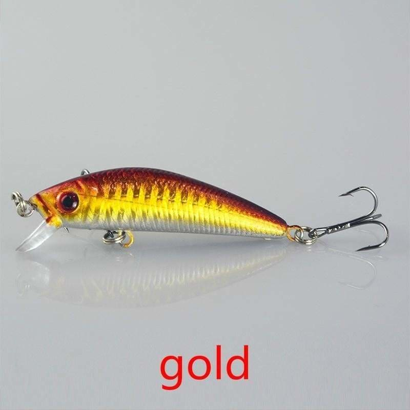 Lot of 10 Fishing Soft Plastic Lure Bass SwimBait Crankbait Minnow Worm 7cm