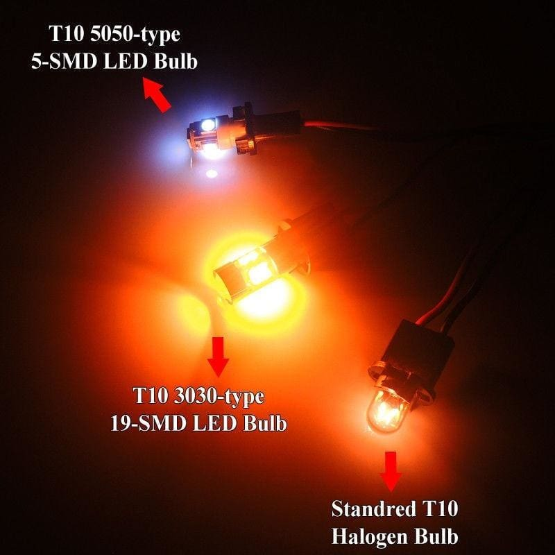 2x Ultra Blue 6 SMD T10 Wedge 168 194 2825 LED Bulb For License Plate Lights