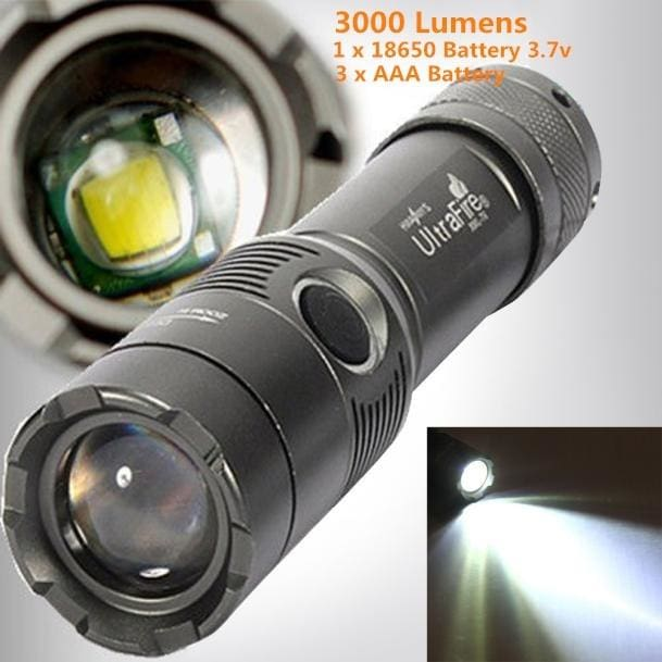 10000LM LED AAA Flashlight Zoom Focus Torch Light Lamp Bright Military Light