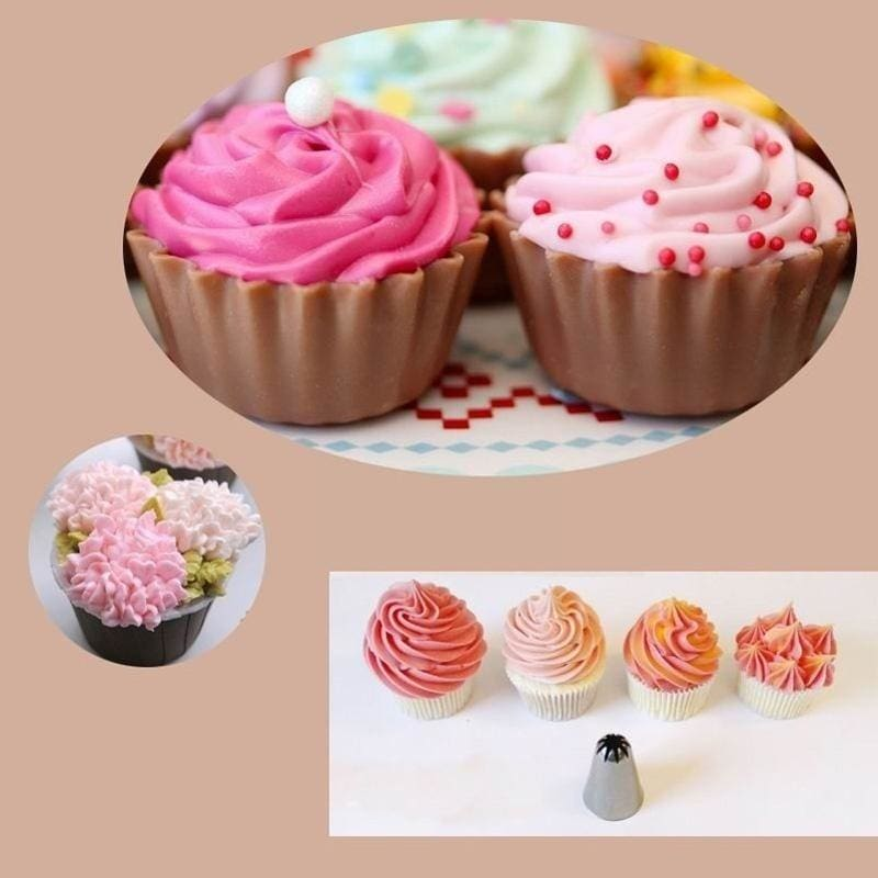 3pcs Stainless Steel Butter Cream Flower Icing Piping Nozzles Cake Decor Tips 9D