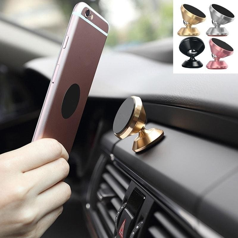 360° Silver Car Magnetic Air Vent Mount Holder Stand for Mobile Cell Phone GPS
