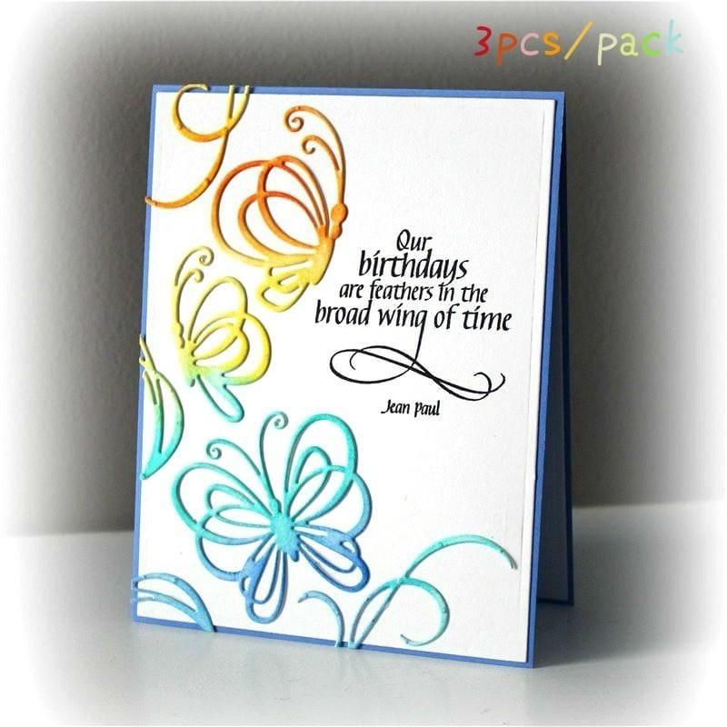 3pcs Cutting Dies Stencil DIY Scrapbooking Embossing Album Paper Card Craft