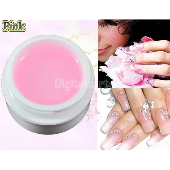 4 pieces Clear UV Gel Builder Nail Art Polish Glue Manicure Tips Transparent Clear