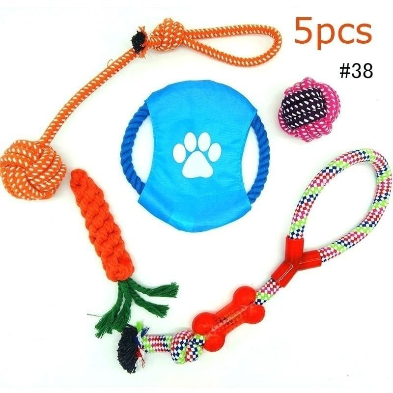 """one randomly selected toy extra large Dog Rope Toy 18/"""" long knotted interactive"""