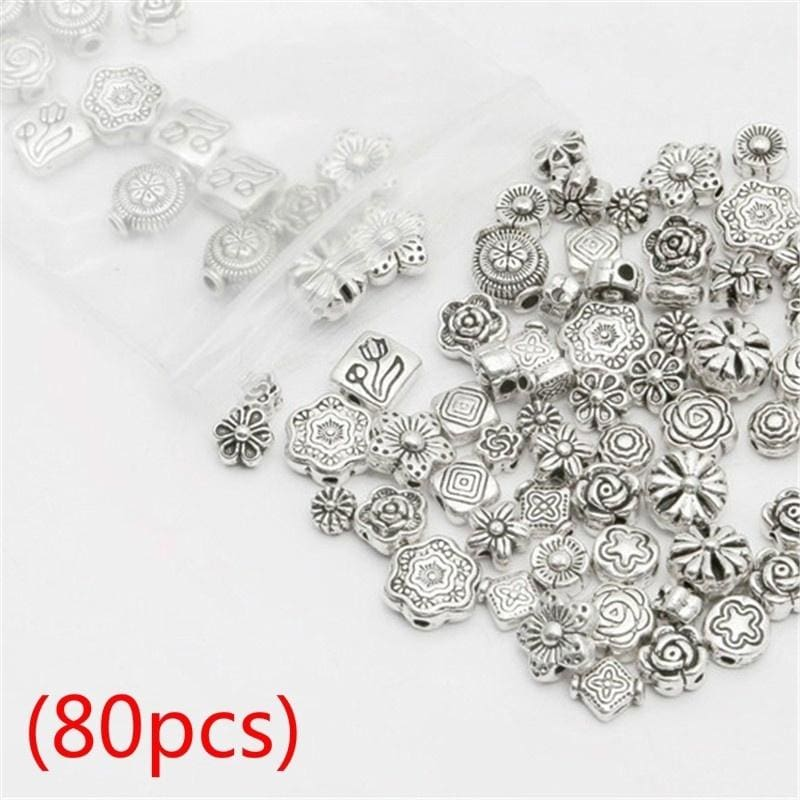 Lot 150Pcs Mixed Tibet Silver Beads Caps Spacer For Jewelry Making DIY