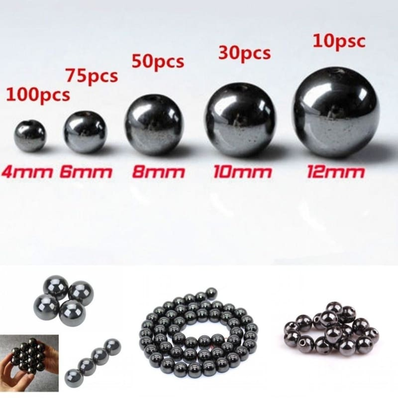 Free Ship 100pcs 4//6//8//10mm Round Stone Loose Spacer Beads For Jewelry Making