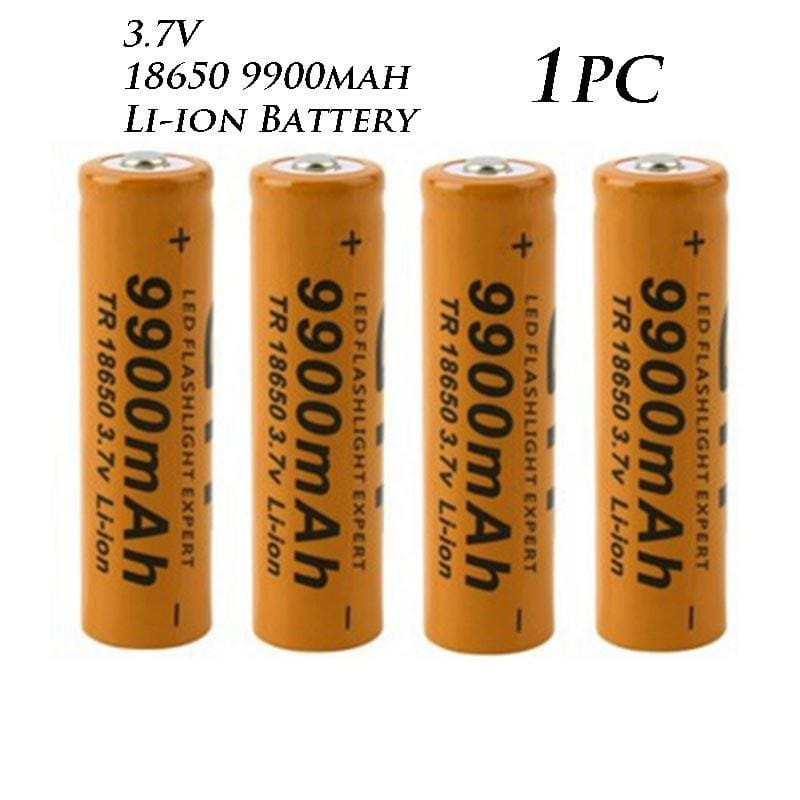 3.7V 18650 9800mAh Li-ion Rechargeable Smart Charger For Torch US