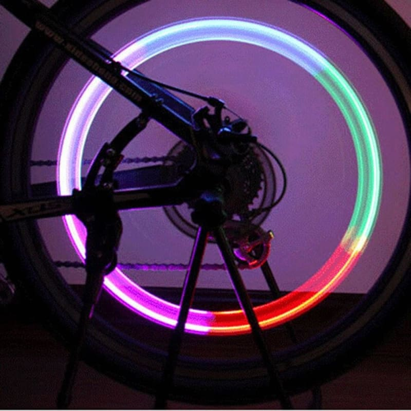 LED Wheel  Tyre Lamp Light Tire Valve Cap For Bike Bicycle Car Motorcycle Lamp