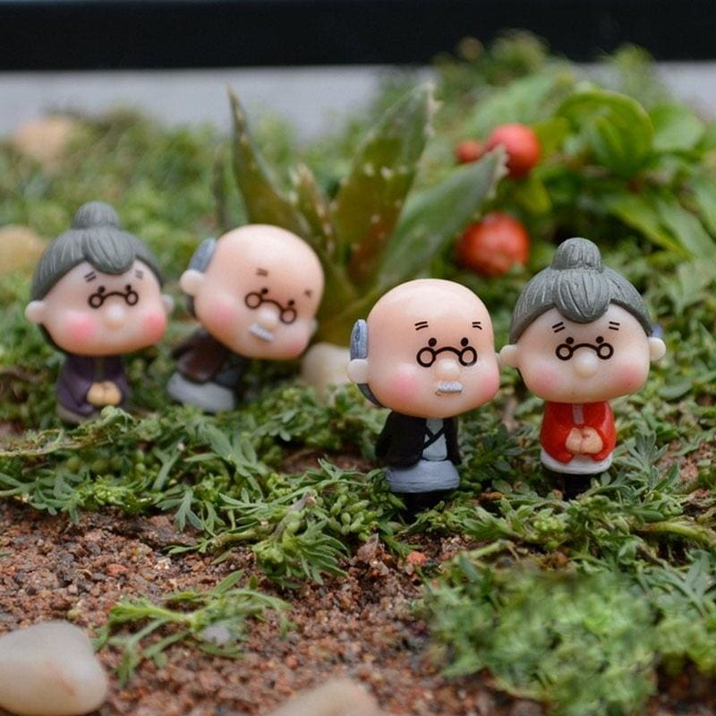 10x Micro Landscape Miniature Resin Bonsai Fairy Decor Smiling Mushroom 4 Colors