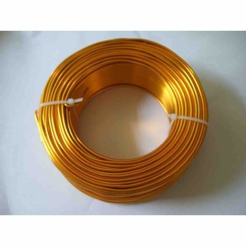 Aluminium Wire floristry craft jewellery Gold 2mm x 12 metre roll