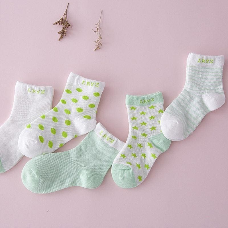 5 Pairs Baby Boy Girl Cotton Cartoon Socks NewBorn Infant Toddler Kids Soft Sock