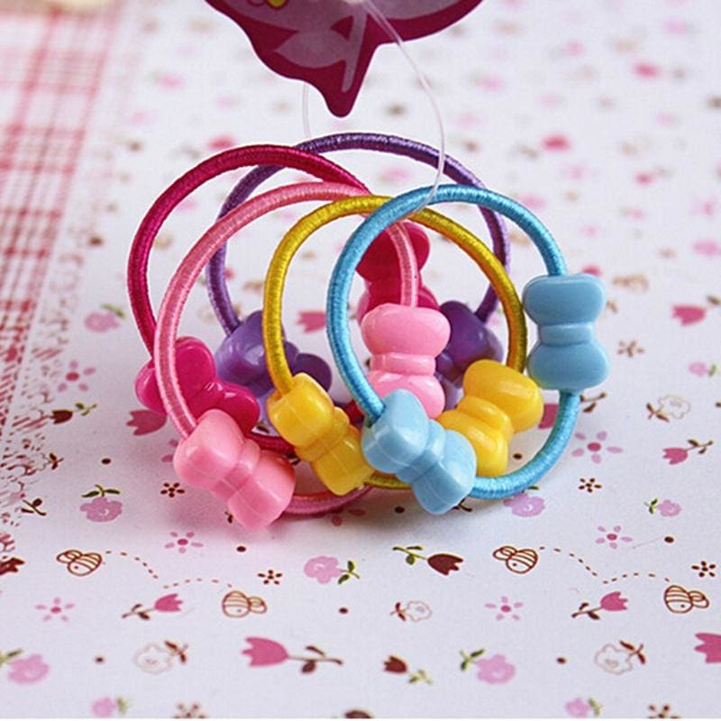 10pcs//50pcs//100pcs Kids Baby Girl Hair Rope Band Tie Ponytail Holder Accessories