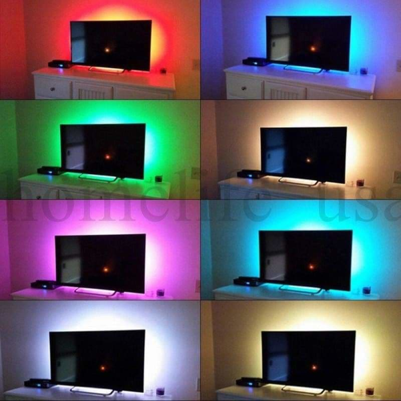 TV LED Strip Lights Waterproof TV Backlight RGB Changing Color Strip