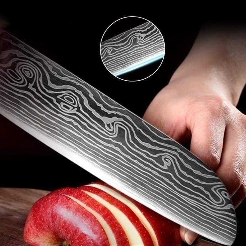 5PCS/set Forged Kitchen Knife Stainless Steel Knife Kitchen Slicing Knife XYj Damascus Stainless Steel Knives Paring Utility Santoku Slicing