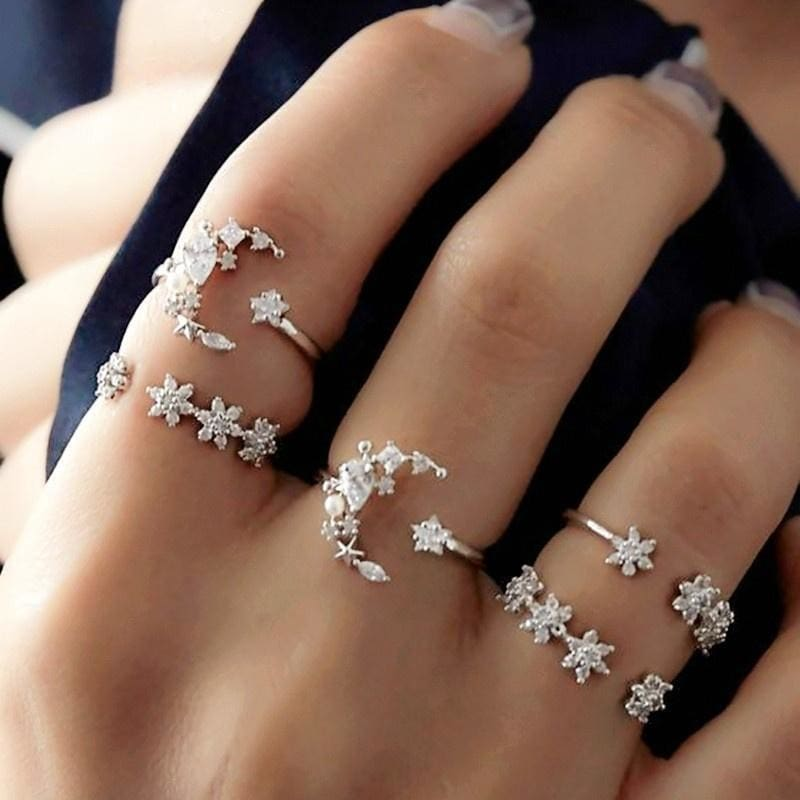 Finger Joint Rings Women Ring Set Accessories Wedding Jewelry Thin Ring
