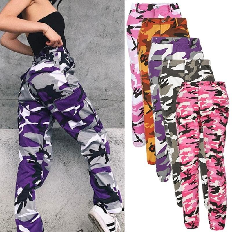 6 Colors Women New Fashion Casual Loose Camouflage Long Pants Women Fashion Casual Sport Pants Outdoor Cotton Pants Climbing Pants