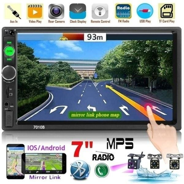 """Universal Double Din 7/"""" Android 6.0 32GB ROM Car MP5 Player Blueteeth Stereo GPS"""