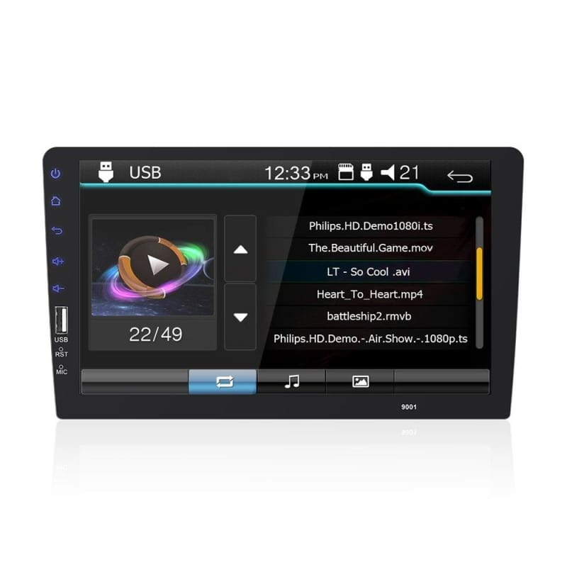 """7/"""" 1080P 2DIN Touch Screen Car Stereo MP5 Player BT AUX USB TF FM Radio w//Camera"""