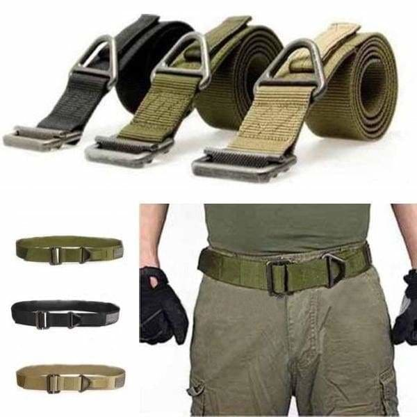 Adjustable Nylon Outdoor Belt  Combat Rescue  Rigger Military Tactical Waistband