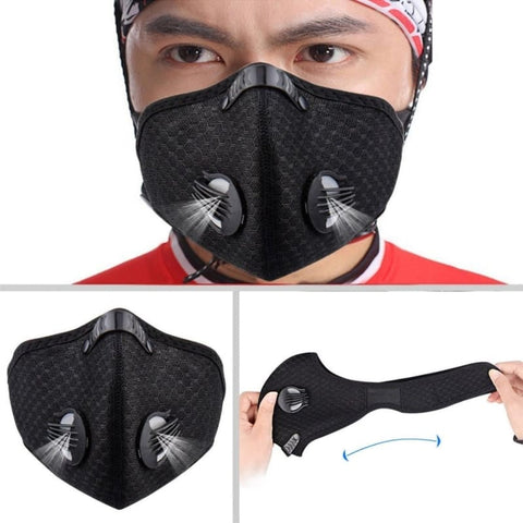 Anti Dust Filter Half Face Mask Bicycle Bike Cycling Motorcycle Racing Ski Sport