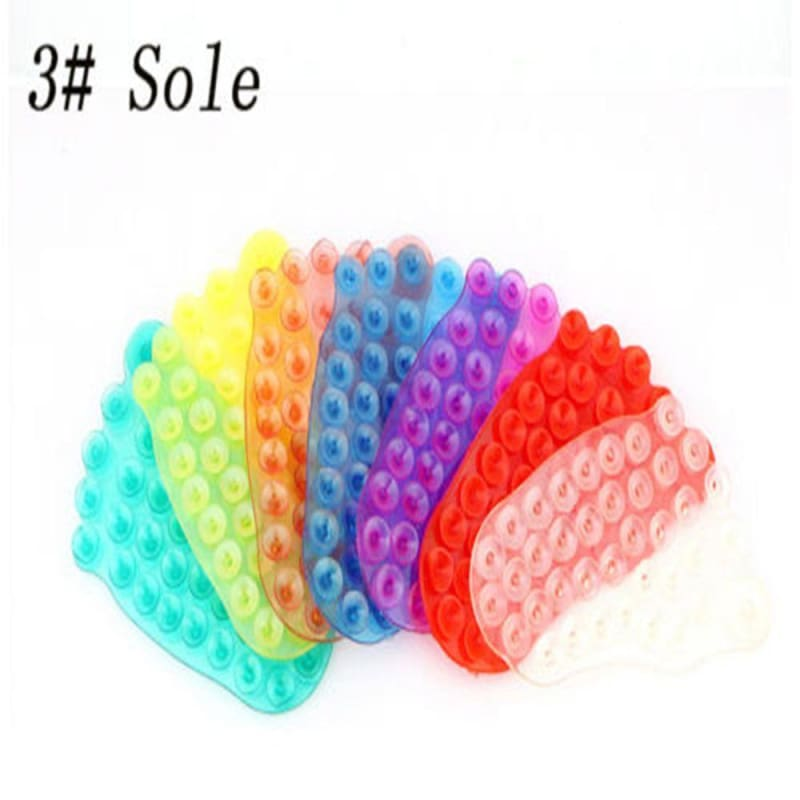Toothbrush Suction Cup 2PCS Strong Double Sided Sucker Palm Foot Shape,