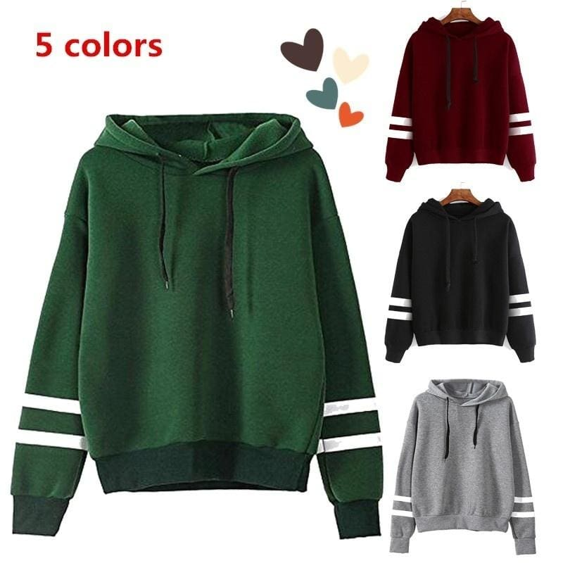 Autumn and Winter Warm Clothing Womens Long Sleeve Hoodie Sweatshirt Jumper Hooded Pullover Tops Blouse