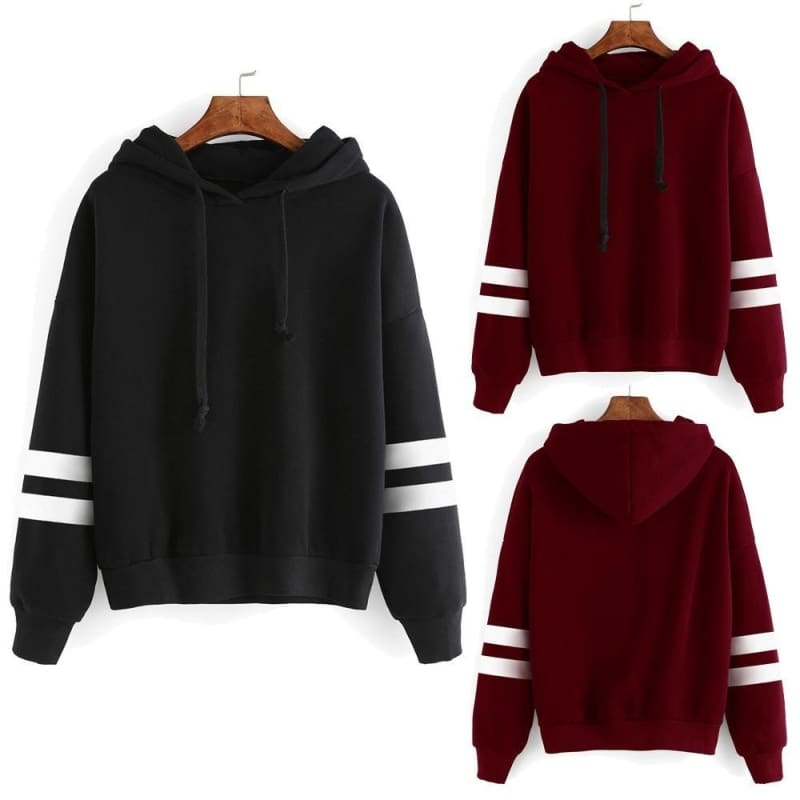 Women Long Sleeve Hoodie Sweatshirt Jumper Sweater Pullover Tops Coat Winter New