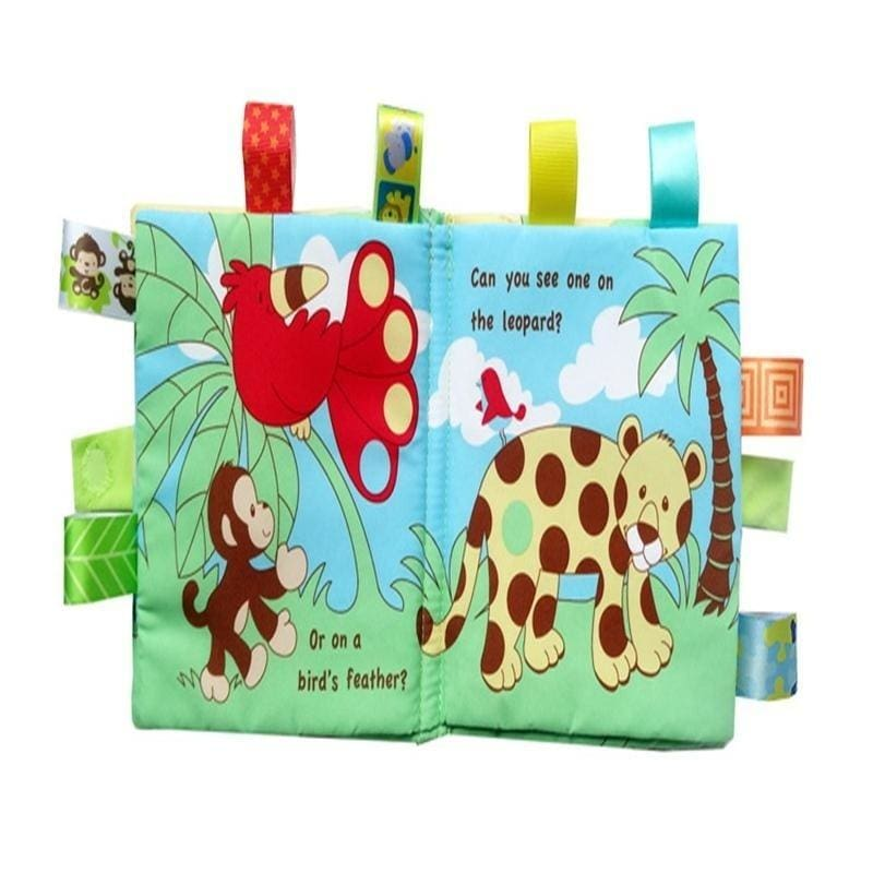 Baby Animal Cloth Book Infant Kid Intelligence Development Toy Bed Cognize Book