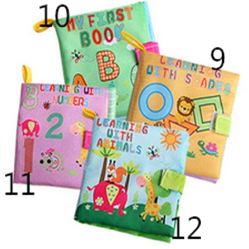 New Kid/'s Cloth Book Infant Baby Intelligence Development Toy Bed Cognize Books