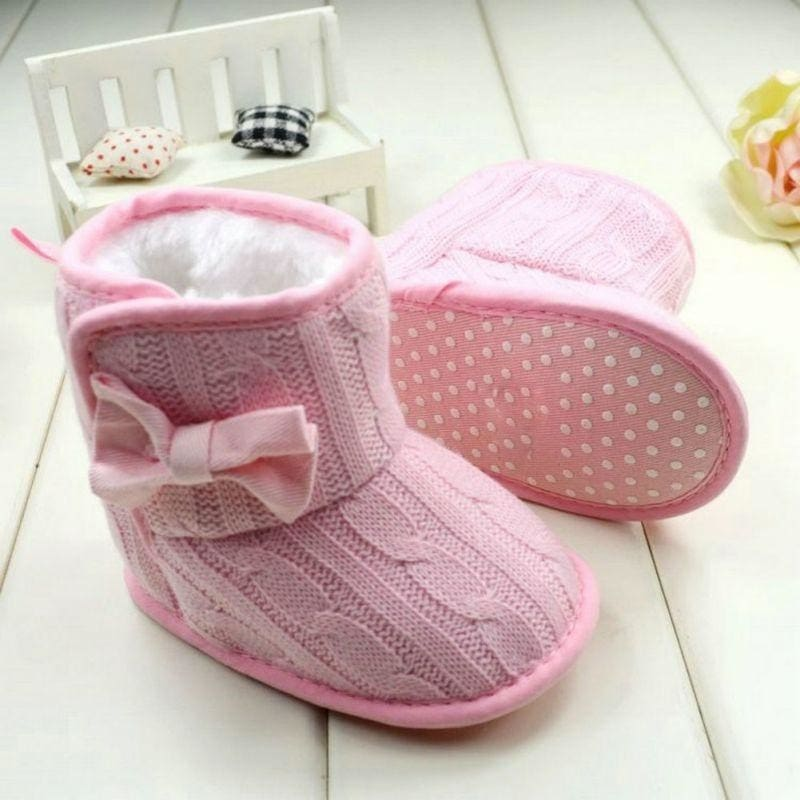 Boutique baby girl Kids Children/'s shoes leather pram shoes Booties 6-12 Months
