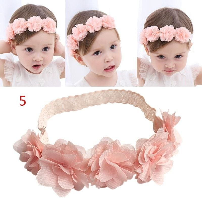 8pcs Baby Girl Kids Toddler Flower Headband Hair Bow Band Accessories Headwear