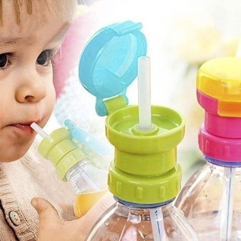 Baby Straw Anti Choke Kid Drinking Cup Water Bottle Feeding Silicone Accessories