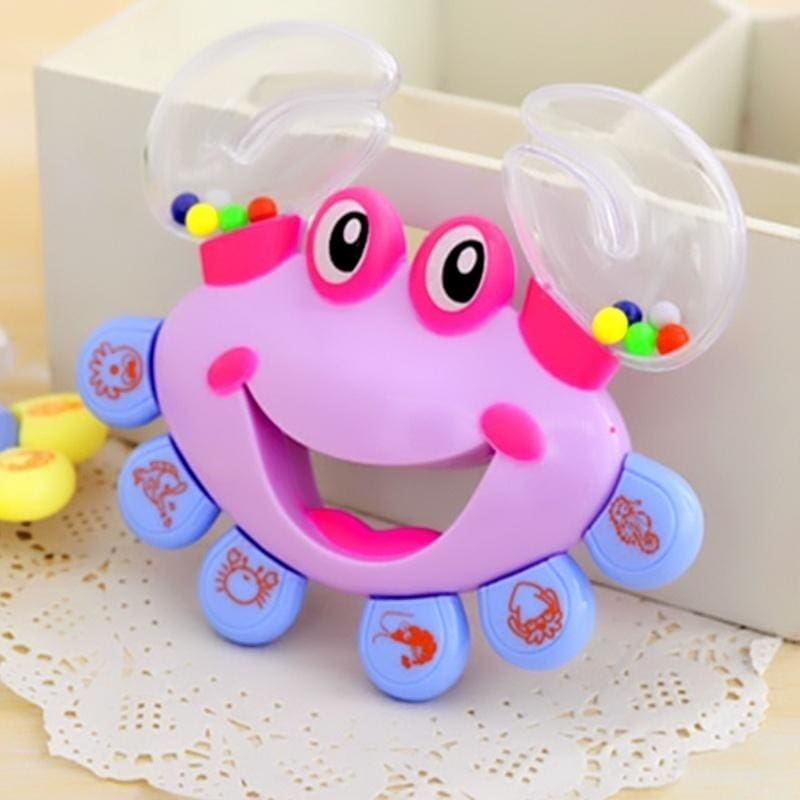 1Pc Baby Cartoon Crab Handbell Baby Intelligence Development Shaking Rattle Toy