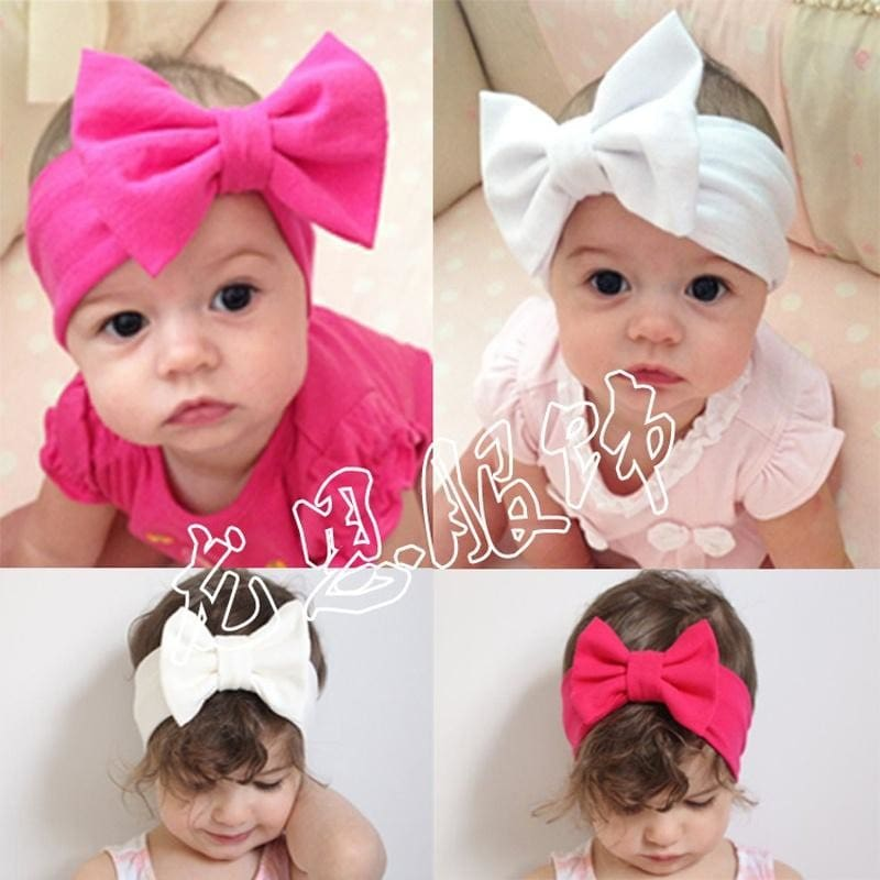 Butterfly Bow Flowers Print Turban Knot Headband For Infant//Baby Hair Band