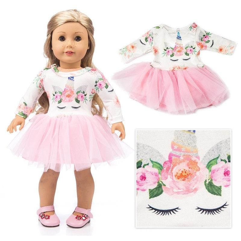 Hot Handmade Pink Doll Clothes Ballet Dress Fit for 18/'/' American Baby Dolls
